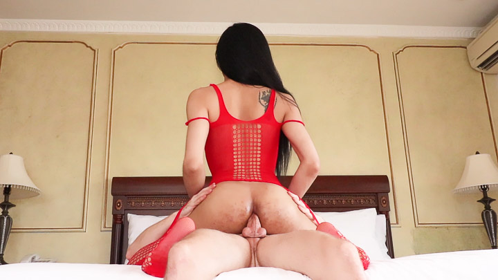 Red Body Stocking Versatile Bareback